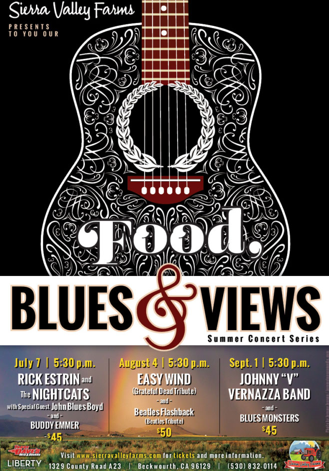 Full Size Food,Blues and Views poster