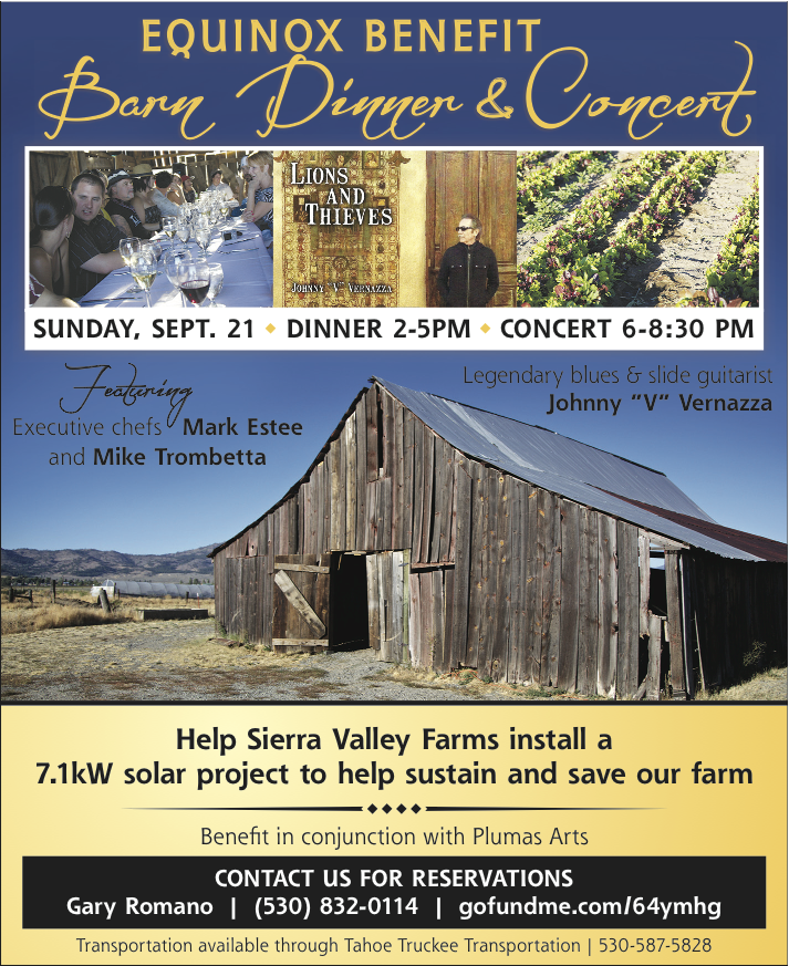 Sierra Valley Farms Fundraiser Flyer